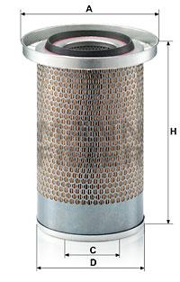Ilustracja C 19 384 MANN-FILTER filtr powietrza