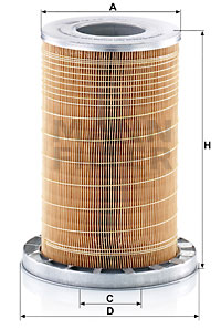 Ilustracja C 19 384/1 MANN-FILTER filtr powietrza