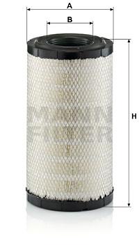 Ilustracja C 19 397 MANN-FILTER filtr powietrza