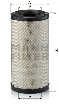 Ilustracja C 19 416 MANN-FILTER filtr powietrza
