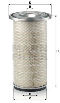 Ilustracja C 19 457 MANN-FILTER filtr powietrza