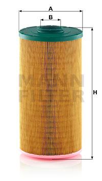 Ilustracja C 19 450 MANN-FILTER filtr powietrza