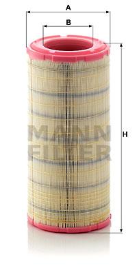 Ilustracja C 19 460/2 MANN-FILTER filtr powietrza
