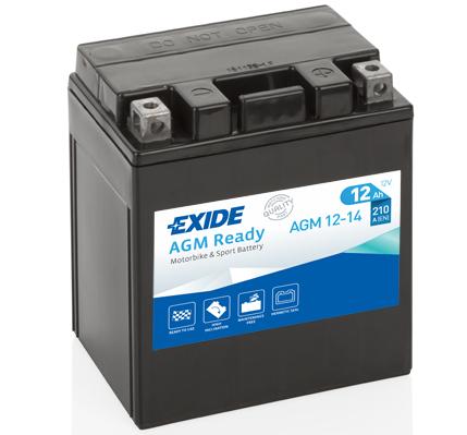Ilustracja AGM12-14 EXIDE akumulator