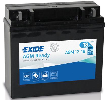 Ilustracja AGM12-18 EXIDE akumulator