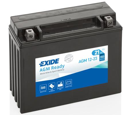 Ilustracja AGM12-23 EXIDE akumulator