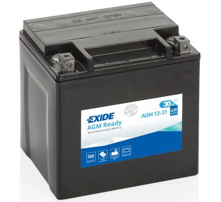 Ilustracja AGM12-31 EXIDE akumulator