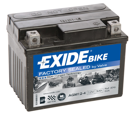 Ilustracja AGM12-4 EXIDE akumulator