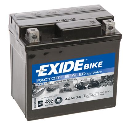 Ilustracja AGM12-5 EXIDE akumulator