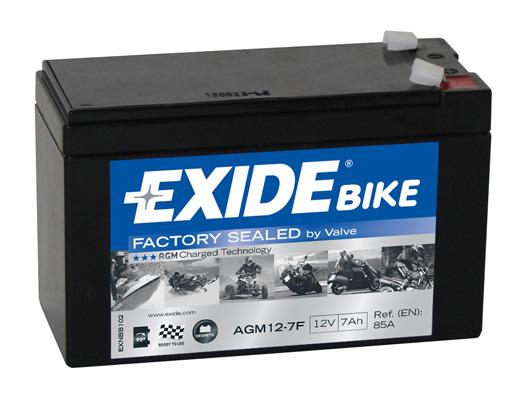 Ilustracja AGM12-7F EXIDE akumulator