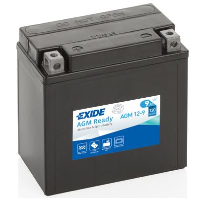 Ilustracja AGM12-9 EXIDE akumulator