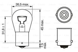 1987302201 BOS BOSCH żarówka, lampa kierunkowskazu