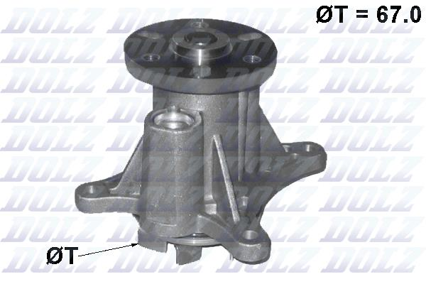 Ilustracja C140 DOLZ pompa wodna