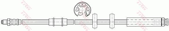 Ilustracja PHB497 TRW przewód hamulcowy elastyczny
