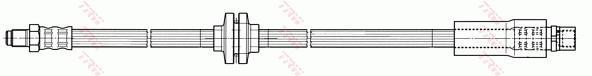 Ilustracja PHB498 TRW przewód hamulcowy elastyczny