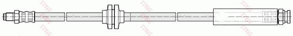 Ilustracja PHB499 TRW przewód hamulcowy elastyczny