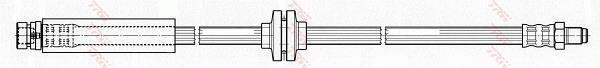 Ilustracja PHB506 TRW przewód hamulcowy elastyczny