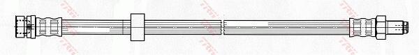 Ilustracja PHB510 TRW przewód hamulcowy elastyczny