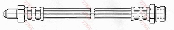 Ilustracja PHB511 TRW przewód hamulcowy elastyczny