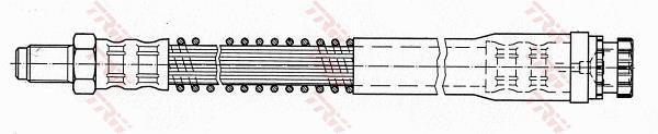 Ilustracja PHB516 TRW przewód hamulcowy elastyczny