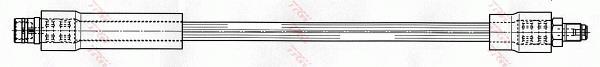 Ilustracja PHB524 TRW przewód hamulcowy elastyczny