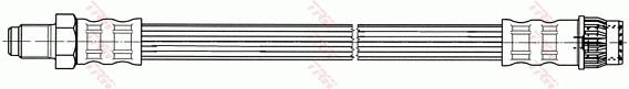 Ilustracja PHB531 TRW przewód hamulcowy elastyczny