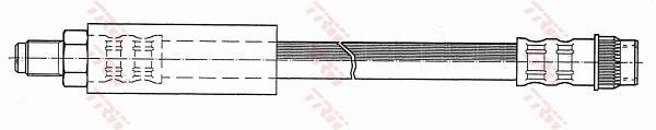 Ilustracja PHB537 TRW przewód hamulcowy elastyczny