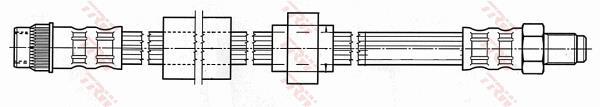 Ilustracja PHB540 TRW przewód hamulcowy elastyczny