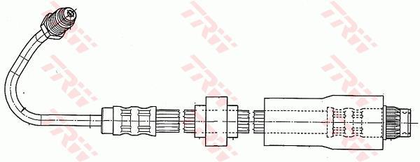 Ilustracja PHB542 TRW przewód hamulcowy elastyczny