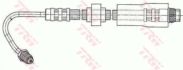 Ilustracja PHB543 TRW przewód hamulcowy elastyczny