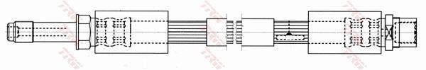 Ilustracja PHB553 TRW przewód hamulcowy elastyczny