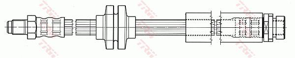 Ilustracja PHB565 TRW przewód hamulcowy elastyczny