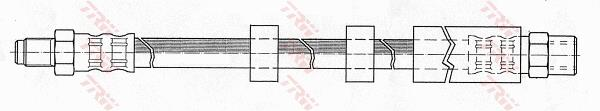 Ilustracja PHB569 TRW przewód hamulcowy elastyczny
