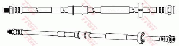 Ilustracja PHB574 TRW przewód hamulcowy elastyczny
