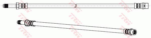 Ilustracja PHB578 TRW przewód hamulcowy elastyczny