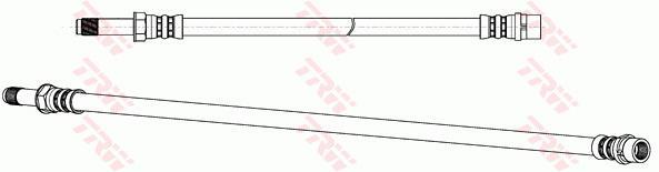 Ilustracja PHB579 TRW przewód hamulcowy elastyczny