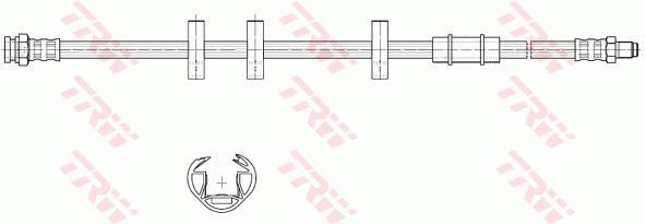 Ilustracja PHB580 TRW przewód hamulcowy elastyczny