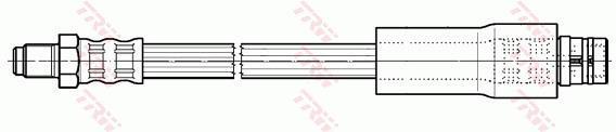 Ilustracja PHB581 TRW przewód hamulcowy elastyczny