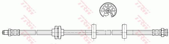 Ilustracja PHB596 TRW przewód hamulcowy elastyczny