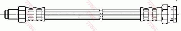 Ilustracja PHB597 TRW przewód hamulcowy elastyczny