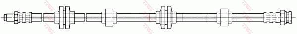 Ilustracja PHB599 TRW przewód hamulcowy elastyczny