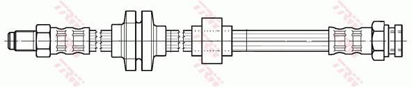 Ilustracja PHB600 TRW przewód hamulcowy elastyczny