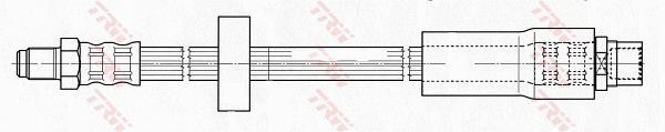 Ilustracja PHB601 TRW przewód hamulcowy elastyczny