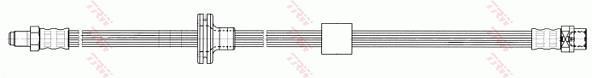 Ilustracja PHB602 TRW przewód hamulcowy elastyczny