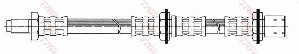 Ilustracja PHB607 TRW przewód hamulcowy elastyczny