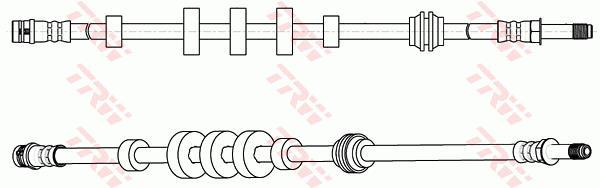 Ilustracja PHB617 TRW przewód hamulcowy elastyczny