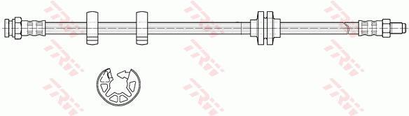 Ilustracja PHB627 TRW przewód hamulcowy elastyczny