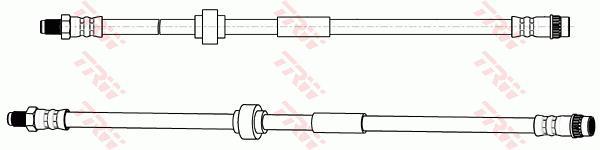 Ilustracja PHB635 TRW przewód hamulcowy elastyczny