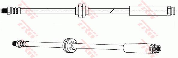 Ilustracja PHB637 TRW przewód hamulcowy elastyczny