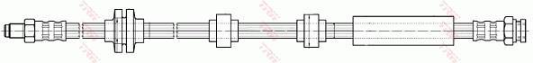 Ilustracja PHB640 TRW przewód hamulcowy elastyczny